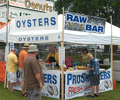ProShuckers booth at recent festival